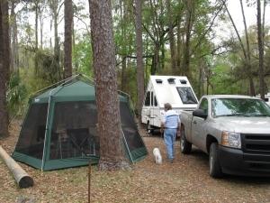 Half a campsite