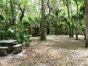 modern and older picnic areas
