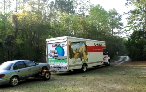 The U-Haul ready to roll
