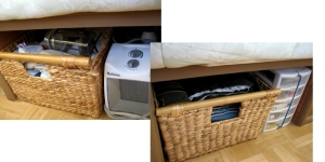 clothes storage under bed