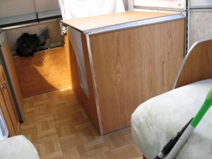 Aliner bathroom folded