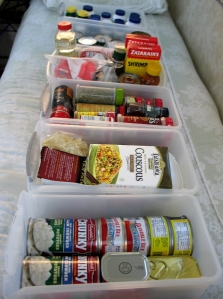 Packing the Aliner Pantry