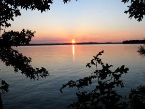One of three sunset shots over lake