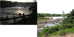 Two weeks difference in view of the Falls