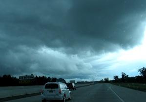Turbulent skies
