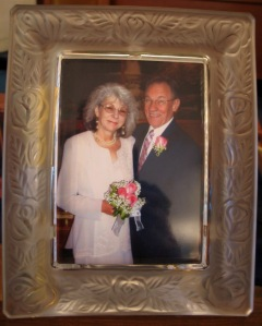 Joanie and Jerry on their wedding day