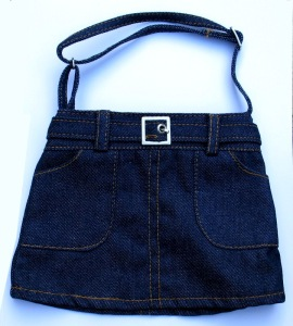 little girl's denim purse