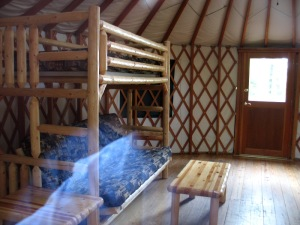 Bunks in yurts