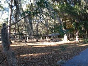 Picnic pavilion area