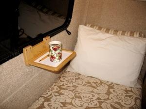 Custom coffee shelf for the Casita