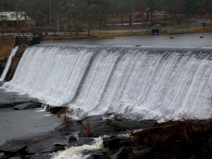 High Falls on a dreary, rainy day.  Only in Georgia would these be called high!