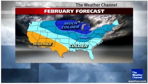 A frigid February predicted for the South