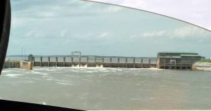 Dam view through the window