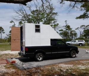 Homemade truck camper