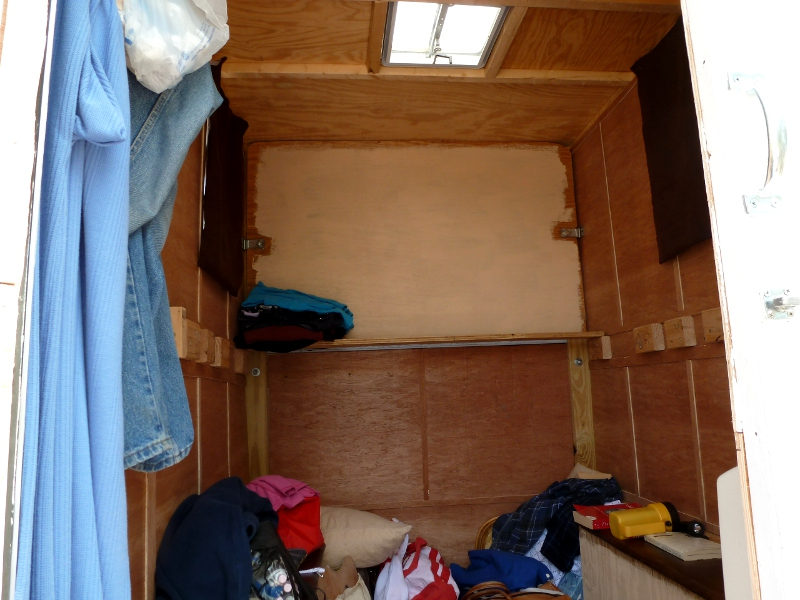 The Interior Of Homemade Camper In Addition To Space Over Cabover