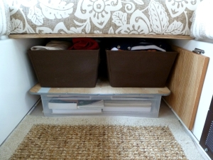 The ugly prototype book storage solution -- but hey, it works!