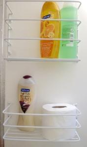 New bathroom storage racks