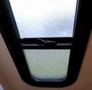 The window latch bar reinstalled