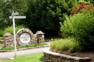 Entrance to the gated community