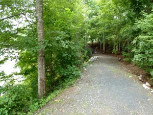 Path from day use area to boating area