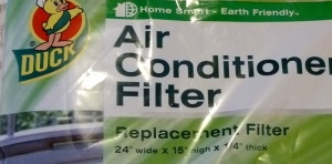An air conditioner filter that fits the Casita's unit properly