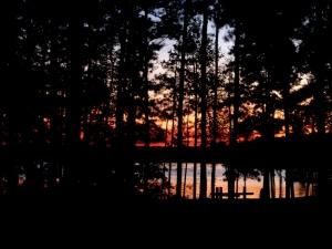 Fiery sunset across the loop