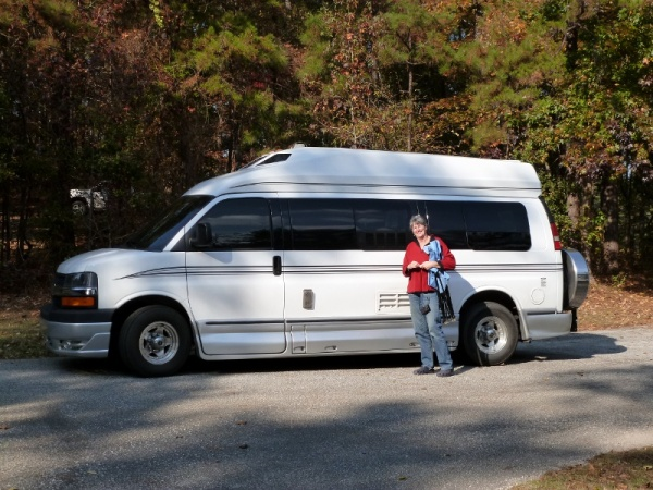 Kim and her Roadtrek