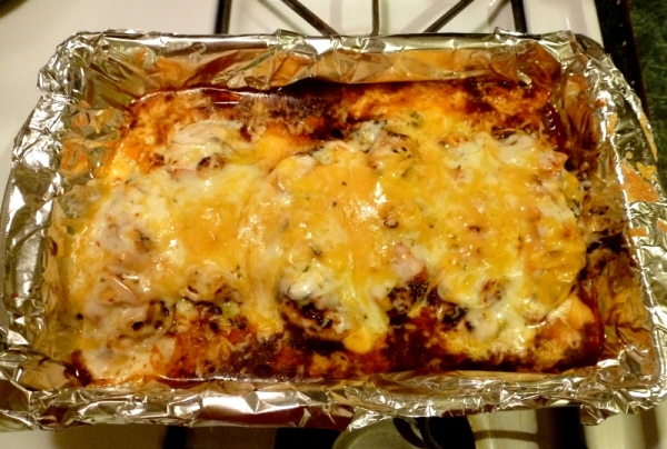 Chili cheese chicken.  A 5 star recipe whether you are low carbing or not!