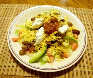 Taco salad low carb dinner