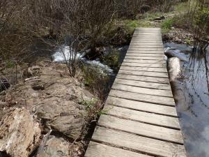 footbridge by dam