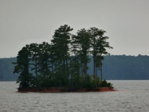 Closeup of the island.