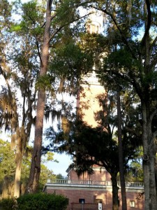 Carillon tower (sp).  We have enjoyed the songs of the bells.