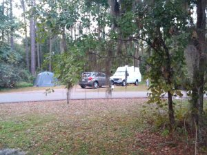 Gail and Mike are camped across the street from us.