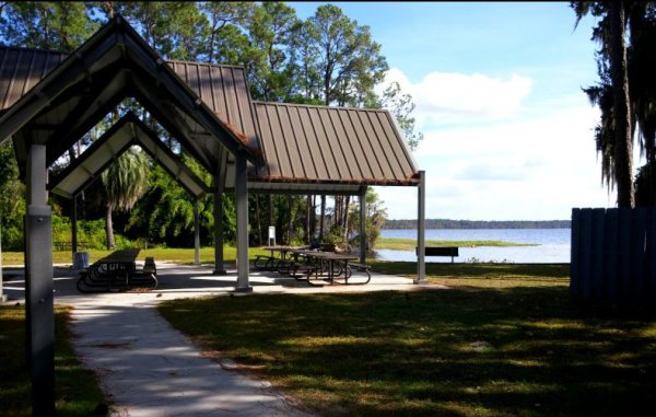pavilion at swimming beach