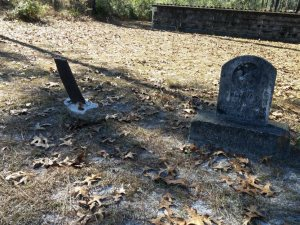 These two graves were the only ones that weren't in a fenced in enclosure.