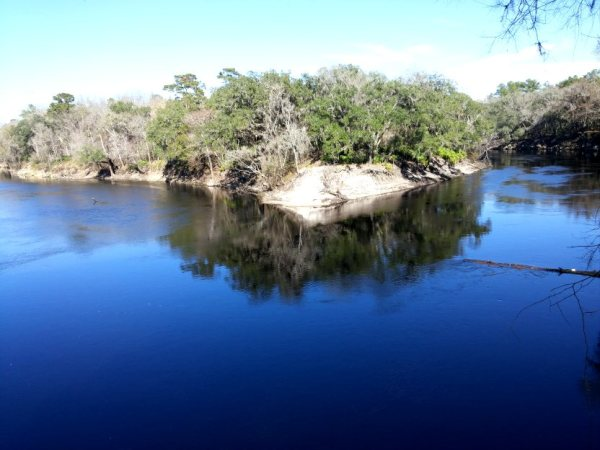 Suwannee River State Park is situated where the Suwannee and Withlacoochee Rivers merge on their way to the Gulf.
