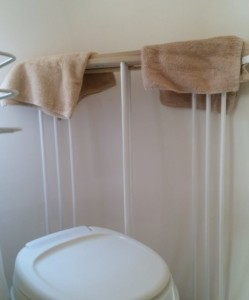 I found a place to store my drying rack.  :)