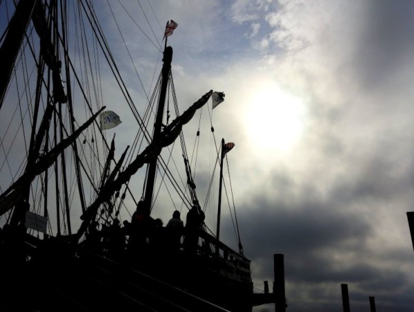 The Pinta's rigging